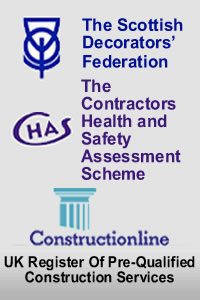CHAS - Contractors Health and Safety Assessment Scheme and 				 Constructionline - UK Register Of Pre-Qualified Construction Services Logos
